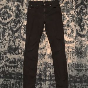 "7 For All Mankind ""The High Waist Skinny"" Black"